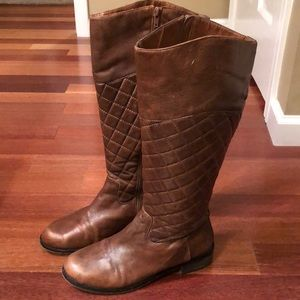 🗑 Bakers • Quilted Brown Boots